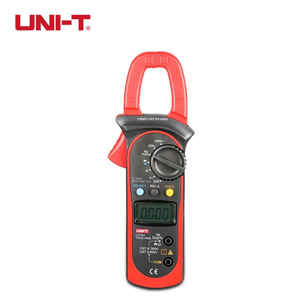 UNI-T UT204 3 3/4 Digit True RMS Auto Range Digital Clamp Meter for 40~400A AC/DC Current Measurement