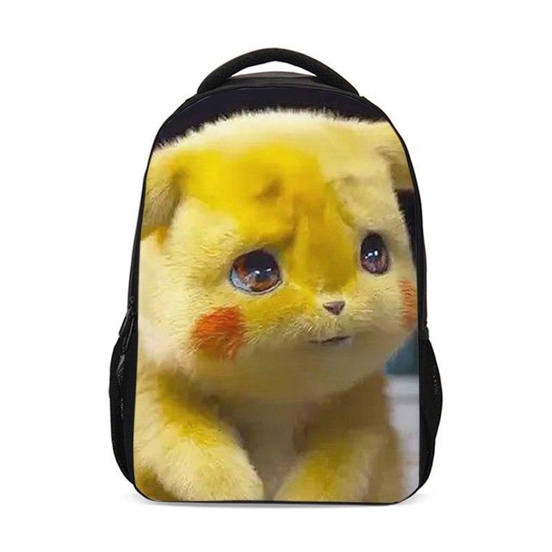 Sac à dos pour garçons filles mignon détective Pikachu 3D impression sac d'école adolescente enfants sac à dos décontracté Daypacks Mochila Escolar