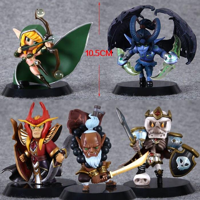 5pcs dota 2 figurine pudge toys set lot 2016 new game dota2 hero