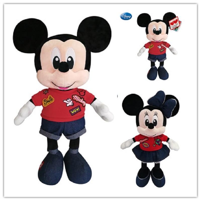 цена на 2018 new Disney plush toy Mickey Mouse Mickey Minnie plush doll toy boy girl birthday gift children's toys preferred