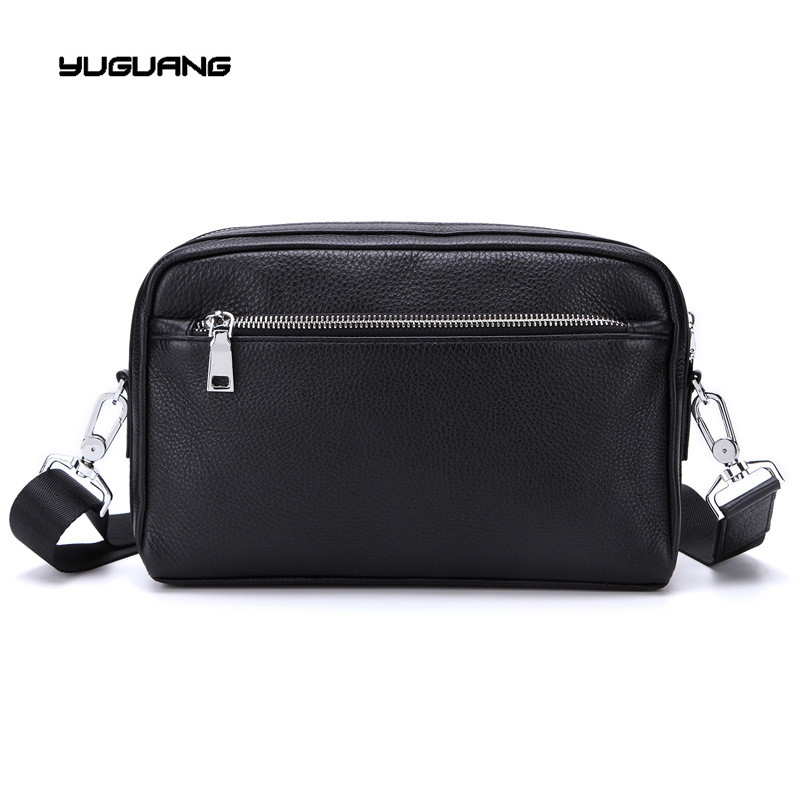 Men s business single shoulder bag font b leather b font hand Baotou cowhide messenger bag