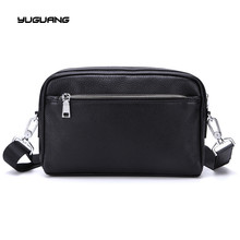 Men s business single shoulder bag leather hand Baotou cowhide messenger bag leisure dual purpose bag