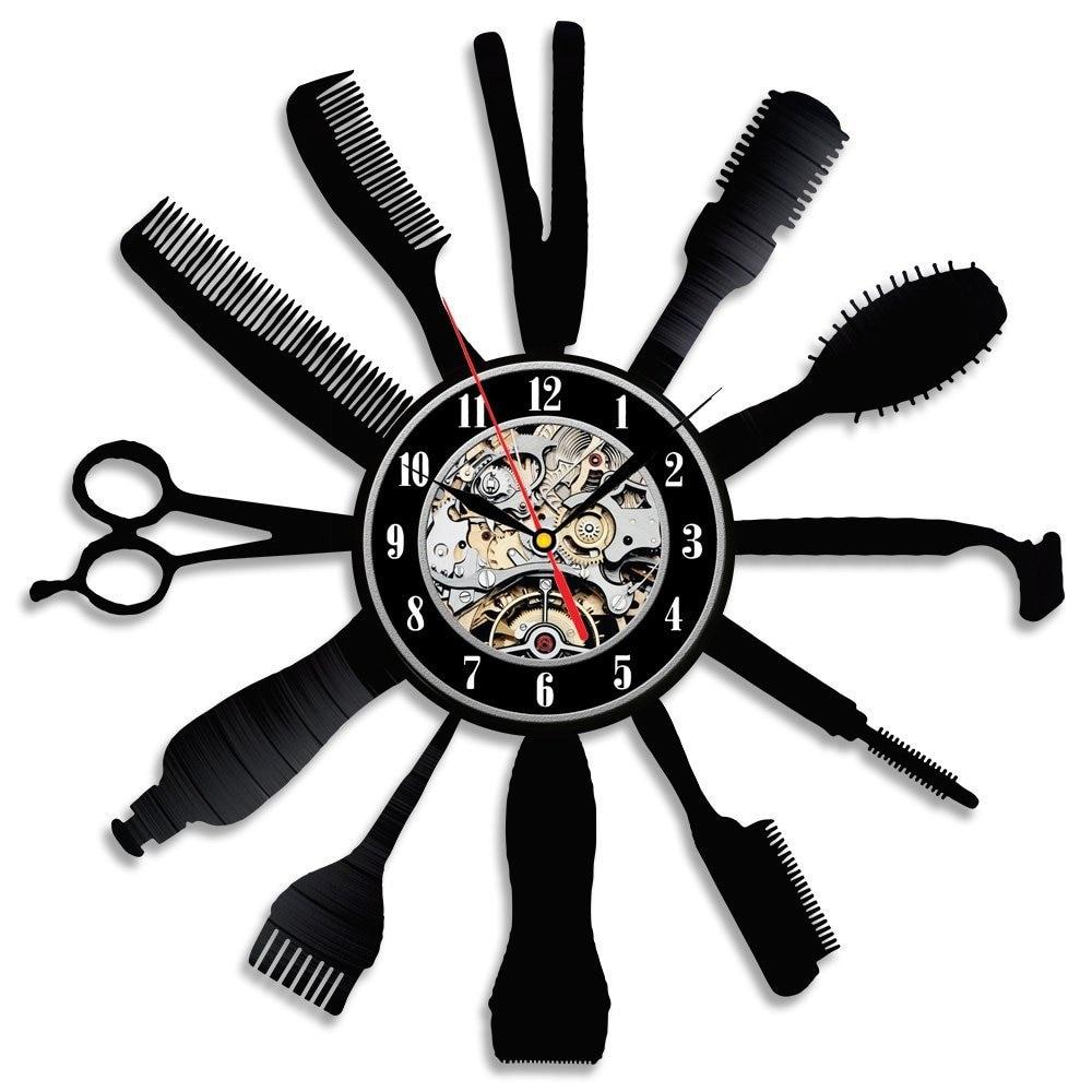 Horloge murale en vinyle  Idée cadeau créative pour Salon de