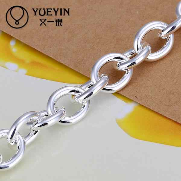 Hot Selling Wholesale Silver Plated Fashion Bracelets Bracelets Jewelry Heart Chain Charm Bracelet