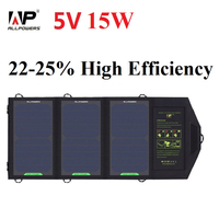 ALLPOWERS 5V 15W Sunpower Solar Charger Panel Battery Dual USB Port for iPhone 7 6s 6 Plus iPad Air mini Galaxy S7 iSolar Tech