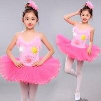 Children Elegant Classic Multicolor Swan Lake Ballet Dress for Girls Leotard Kids Professional Tutu Dance Costume Ballet
