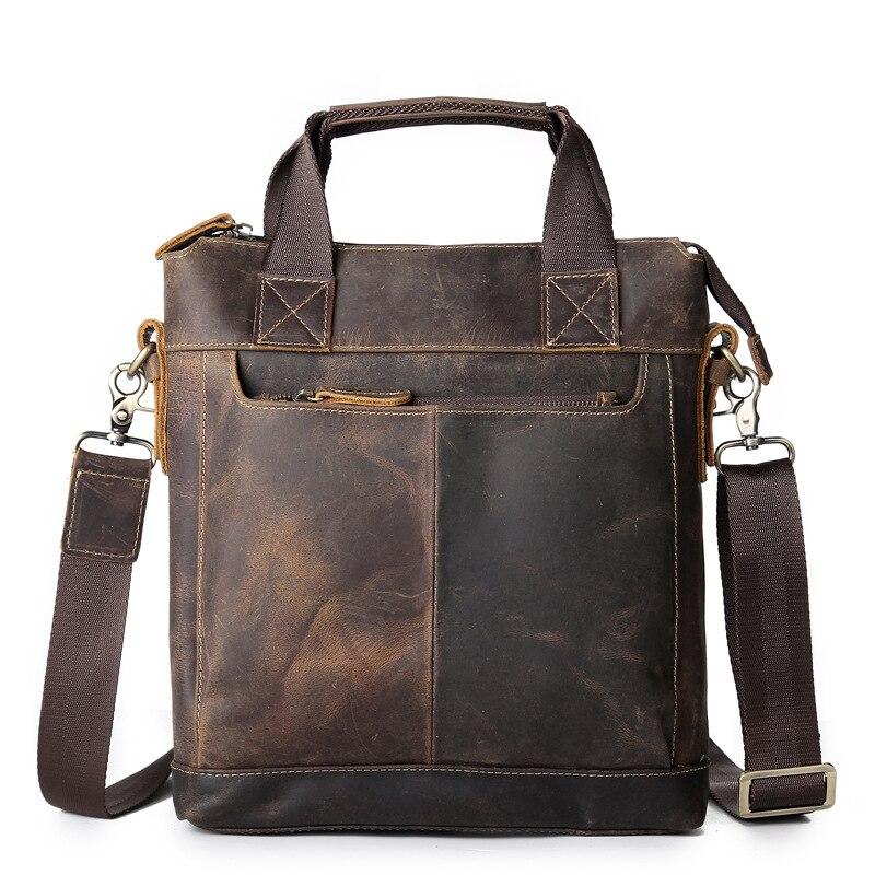 Männer Beutel der Handtaschen Aus Echtem Leder Schulter Tasche für Mann Reise Große Kapazität Business Aktentasche Mini Laptop Tasche Männliche Hand totes