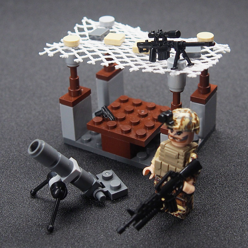 Image 2 - WW2 Military weapon gun soldier Set Army Schwarzwald Building brick Kids DIY Compatible Legoings Toy For Kids-in Blocks from Toys & Hobbies