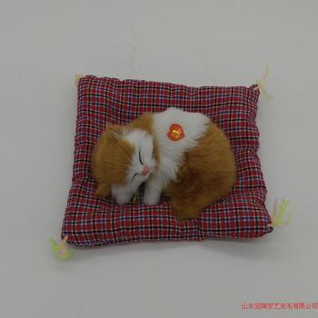 Simulation cat polyethylene&furs cat model funny gift about 14cmx11cm