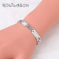 17 07g 7 8inch White Fire Opal 925 Sterling Silver Bracelet Generous For Women Romantic Jewelry