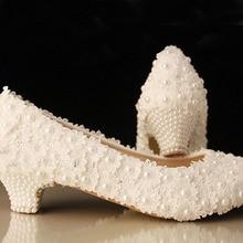Dame Spezielle Schuhe Hochzeit Schuhe Weiß Low Ferse Brautkleid Schuhe Abendgesellschaft Prom ShoesFree Versand