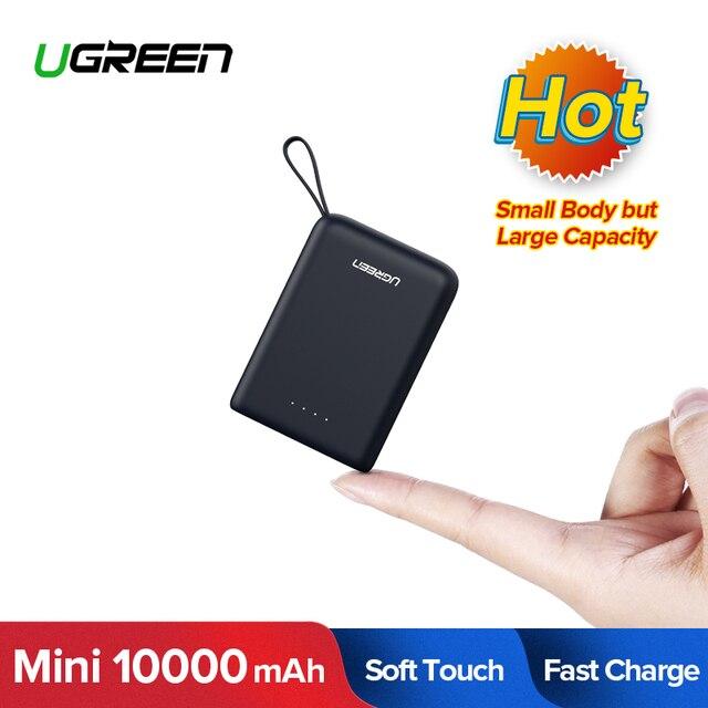 Ugreen Mini Power Bank 10000mAh Ultra Slim PoverBank for Samsung S9 S8 Dual USB Powerbank External Battery Pack Portable Charger