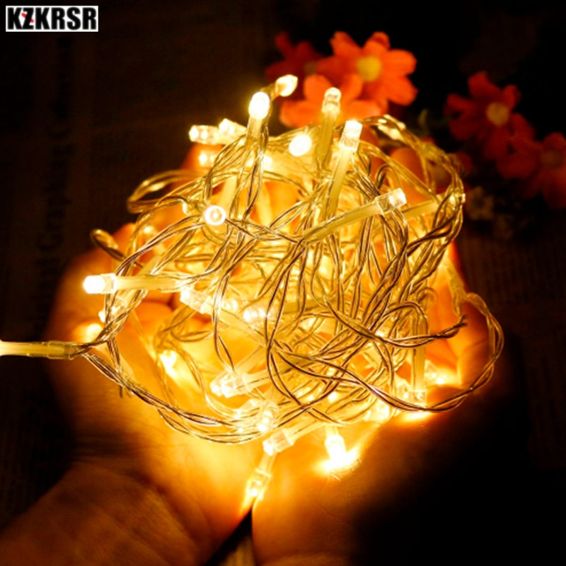 Led String Selfless Kzkrsr 9 Colors 1m/2m/3m/4m/5m Aa Battery Operated Xmas Led String Lights Garland Christmas Holiday Decoration Fairy Lamp