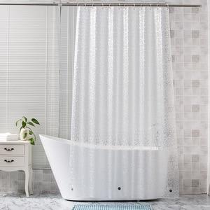 Image 5 - UFRIDAY cortina de ducha impermeable 3D, cortina de baño de plástico PEVA, cortinas transparentes de ducha, cortina de baño gruesa con imanes
