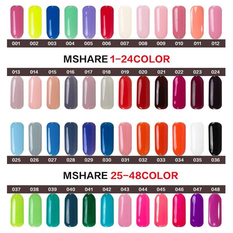 MSHARE 10ml Qara UV Dırnaq Geli Polyak Markası Qalıcı Qalıcı - Dırnaq sənəti - Fotoqrafiya 2