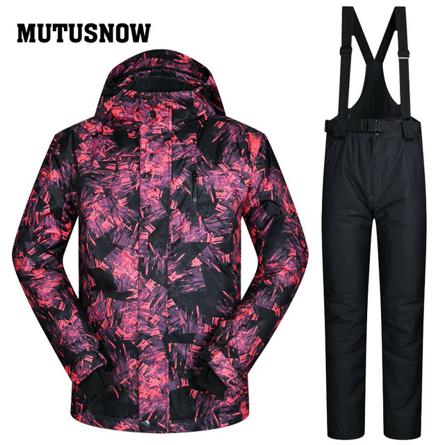MUTUSNOW Для мужчин лыжный костюм сноуборд куртка брюки ветрозащитные Водонепроницаемый уличная спортивная одежда Лыжный Спорт Супер теплая одежда брюк мужской костюм