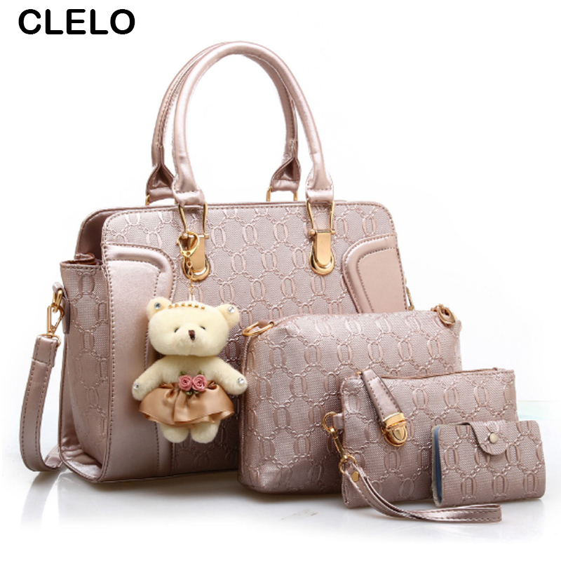 CLELO Designer Handbags Fashion Women Bag Lady PU Leather Messenger Hand Bags Casual Tote Bag Big Shoulder Bags Sac Female 2017 women shoulder bags leather handbags shell crossbody bag brand design small single messenger bolsa tote sweet fashion style