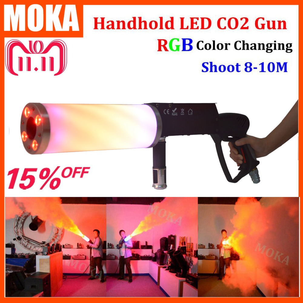 Handheld Led co2 gun cryo LED CO2 Jet machine Pistol Special Effects co2 Cannon guns free co2 gas hose co2 jet machine cryo fx cannon special effects pistola cryo jet co2 blaster special effects dj cryo jet gun cannoon