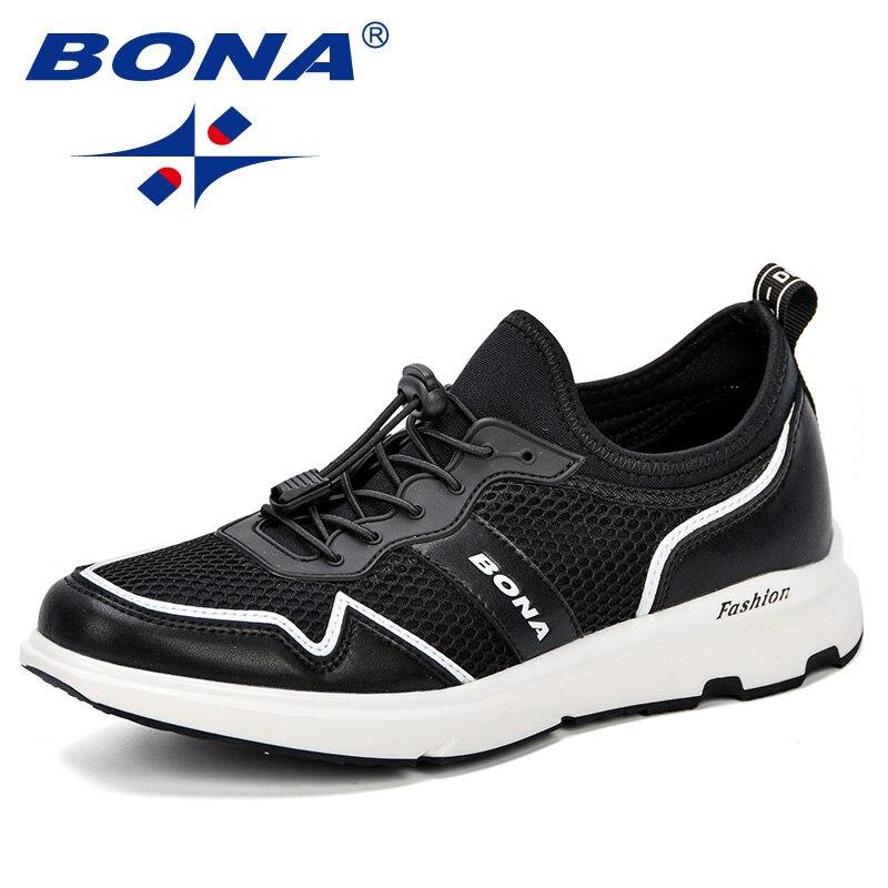 BONA nouveau Design hommes chaussures de marche chaussures de Sport en plein air printemps et automne hommes baskets respirant maille confortable chaussures pour hommes