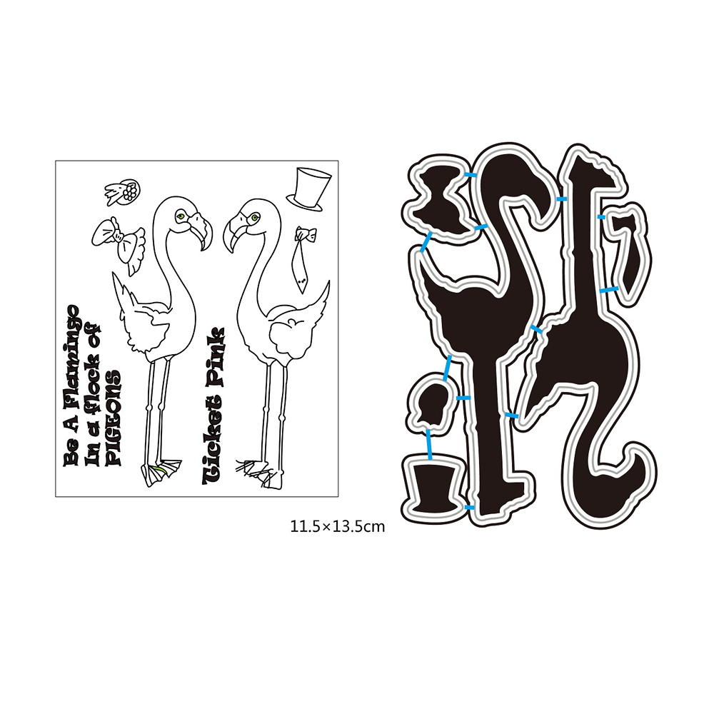 Flamingo Transparent Rubber Stamp/Seal for DIY Scrapbooking/Photo Album Decorative Card Making Clear Stamps Supplies