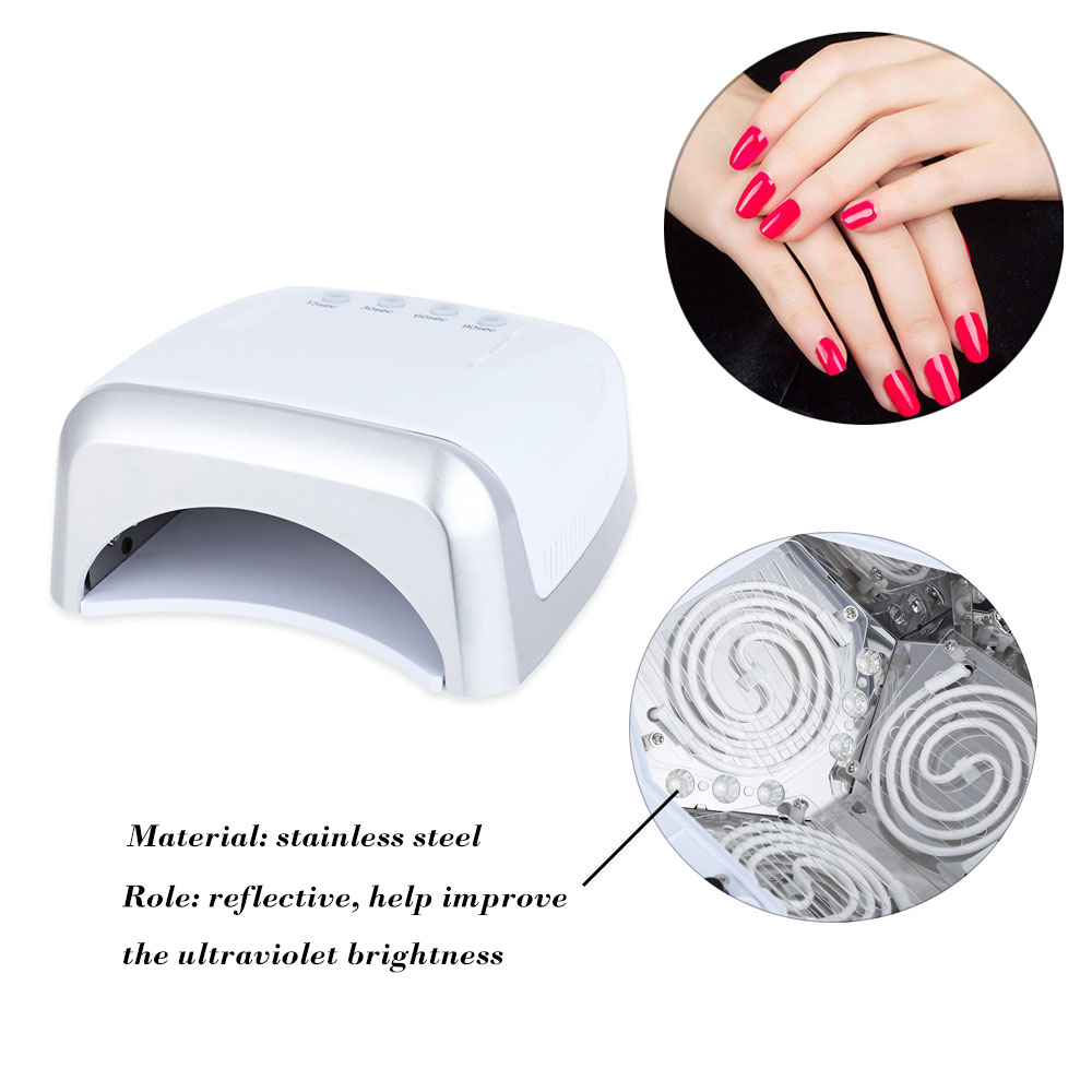 цена  FELIZ Professional Nail Gel Lamp 60W UV/LED Nail Dryers Double High Power Manicure Tool Salon Nail Led UV Polish Dryer Brand  онлайн в 2017 году
