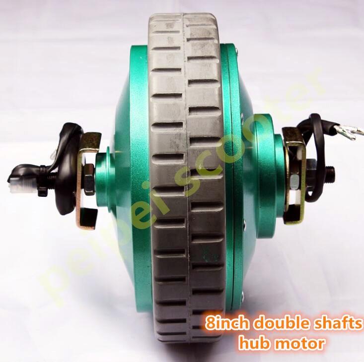 8 Inch 8inch 180w Double Shaft Brushed Geared Dc Hub Motor