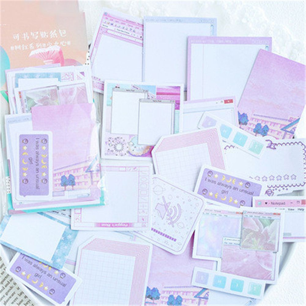 45pcs/pack  Basic Grid Stationery Bullet Journal Diary Paper Calendar Cute Stickers Scrapbooking Flakes School Supplies