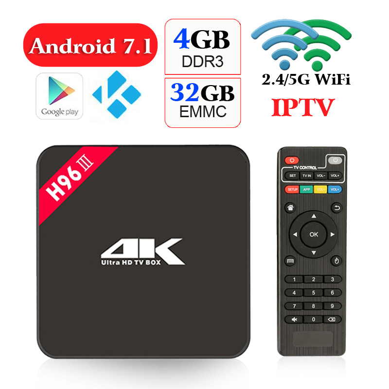 goodcee H96 III Android 7.1 TV Box 4GB RAM 32GB ROM set top box RK3328 2.4G/5GHz WIFI BT 4.0 4K+3D Movies Media Player H96 Pro transport phenomena in porous media iii