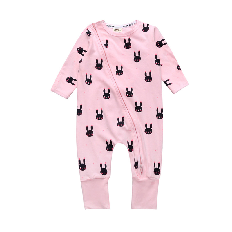 Newborn Baby Girl Romper Spring Warm Rabbit Rompers Baby Long Sleeve Baby Quilted Pajamas Jumpsuit Toddler Overalls Unisex Body mother nest 3sets lot wholesale autumn toddle girl long sleeve baby clothing one piece boys baby pajamas infant clothes rompers