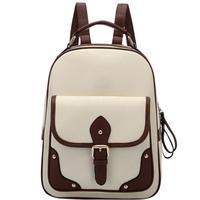 8e465a1d4bad0 Banabanma Women Backpack Girl Retro PU Backpack Fashion All Match Knapsack  Large Capacity Casual Travel Bags
