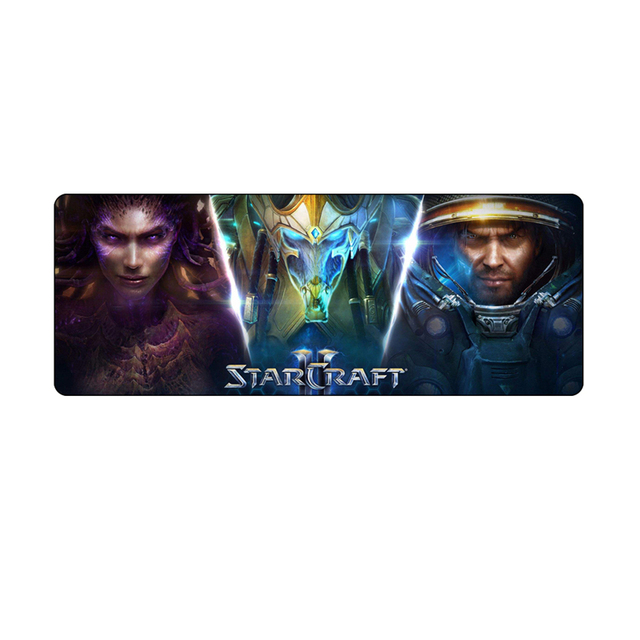800*300 large game mouse pad for starcraft 2 800*300mm Overlock pc gaming for starcraft2 gaming mousepad speed  1