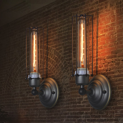 Loft Vintage Wall Lamp Creative Edison Lamp Industrial Style Metal Sconce Wall Lights Coffee Shop Art Deco Wall Sconces Lighting vintage loft industrial edison flower glass ceiling lamp droplight pendant hotel hallway store club cafe beside coffee shop