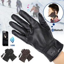 Bluetooth PU Leather Glove Winter Warm Gloves For Mobile Phone For Pad Answer Phone Listen to