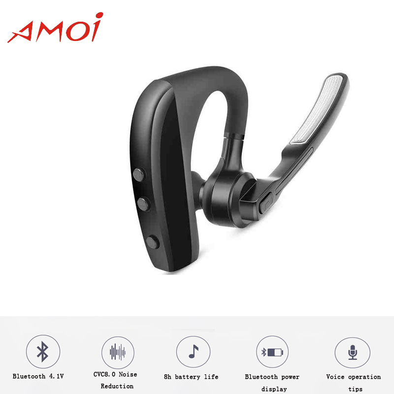 Amoi Original Business Wireless Headset K9 Support Android/Windows with Bluetooth 4.1V noise reduction for Galaxy S9 S9 Plus цена