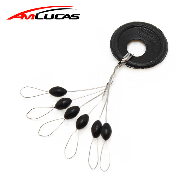 10 Group 60pcs Fishing Bobber Oval Black Rubber Stopper Space Bean Connector Fishing Line Resistance Fishing Accessories WW287 цена