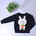 Ins модели взрыва 2017 новых мальчиков и девочек все матч свитер ручной работы милый кролик редис хлопок свитер