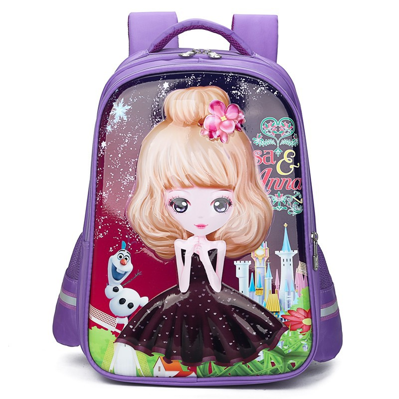 princess School Bags Children School Backpacks For Girls Waterproof Kids Satchel Schoolbags mochila escolar printing backpacks(China)