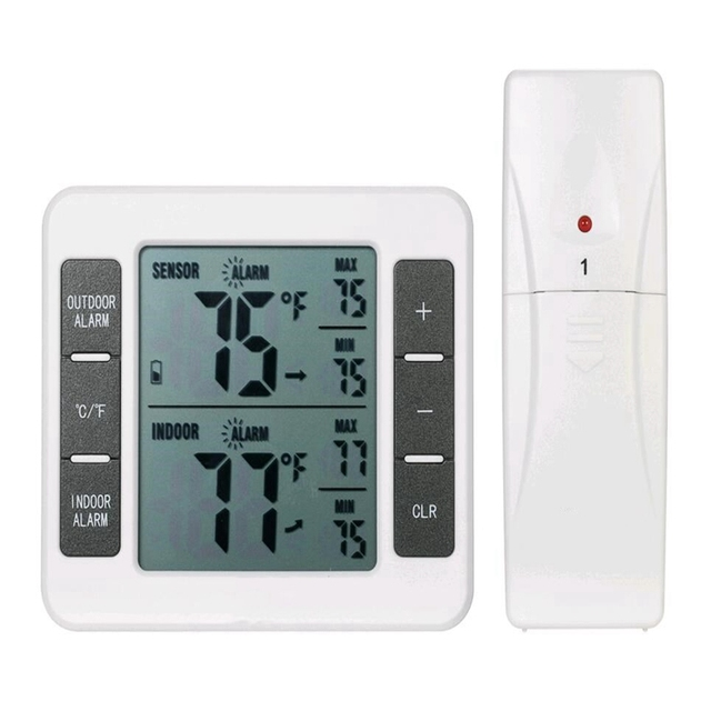 Wireless Lcd Wetter Station Digital Indoor Outdoor Home Garten