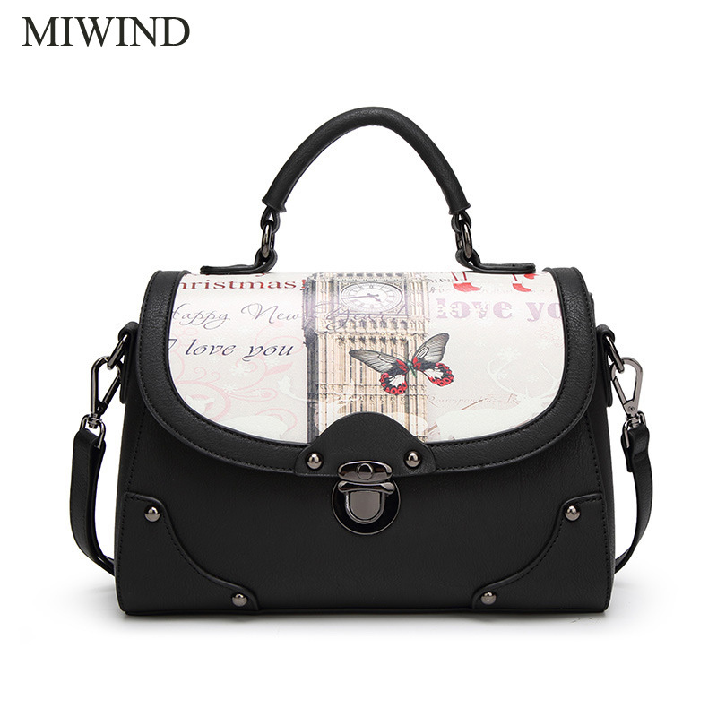 2017 MIWIND Free Shipping Fashion Lady Shoulder Bag High Quality PU Leather Women Handbag Messenger Bag WU72603 free shipping new fashion brand women s single shoulder bag lady messenger bag litchi pattern solid color 100