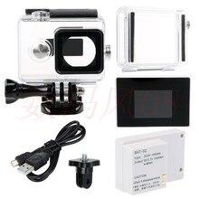 Caso Da Habitação à prova d' água + Expandir Case Capa + LCD Screen Display + BacPac Bateria Externa Para Xiaomi yi Action camera acessórios