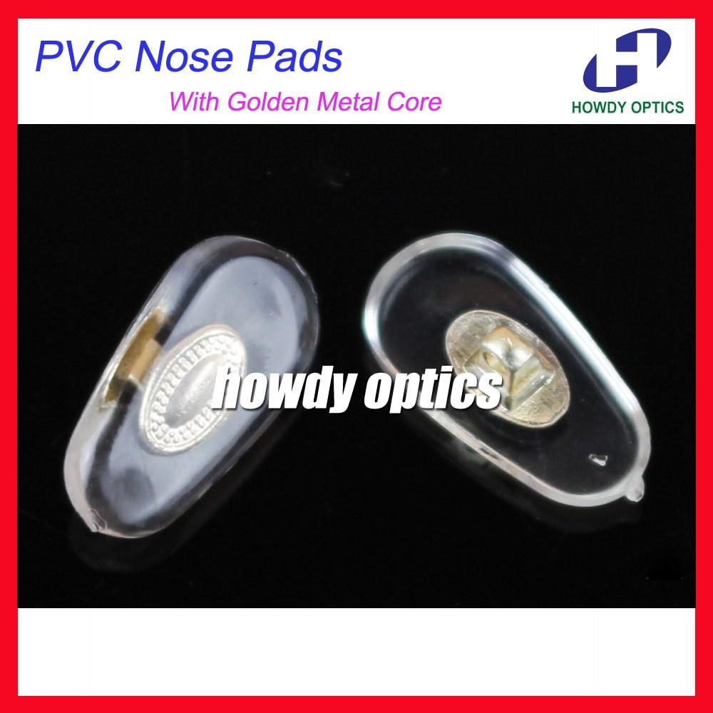 100 Pcs/lot Brillen Pvc Nase Pads Mit Gold Metall Core 14mm Schraube-in Typ Gläser Zubehör StäRkung Von Sehnen Und Knochen