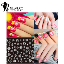 1Pcs Hot Sales 3D Nail Art Snowflakes Decals Angel White Snowman Nail Art Water Stickers Decorations Winter Christmas Design