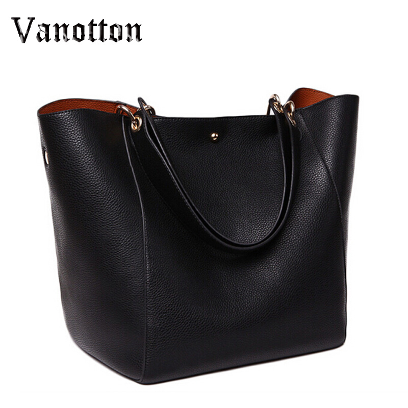 ФОТО Big Female Bag Women Handbag Famous Brand Shoulder Bags Solid Designer Handbags High Quality Ladies Hand Bags Women Tote 2016