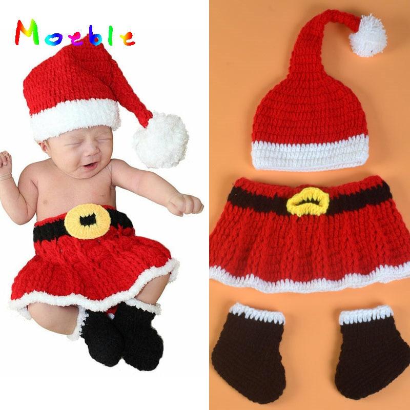 ツ)_/¯Crochet recién nacido traje de Navidad para las niñas foto ...