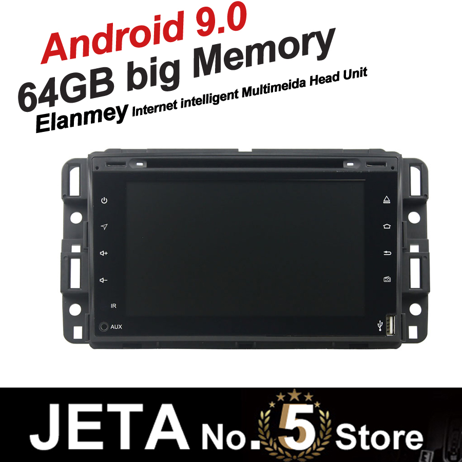 Fit for GMC Yukon Tahoe Car Radio GPS Music player tape recorder Android 9.0 64GB big memory DSP equalizer IPS FULL touch screen image