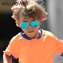 WILLPOWER 2018 Fashion Kids Sunglasses Brand Designer Children Pilot Sun Glasses Beach Boys