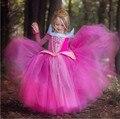Novo Dia Das Bruxas Meninas Vestido Vestidos Crianças Princesa Da Bela Adormecida Aurora Vestido Rapunzel Cinderela Traje Do Partido Dos Miúdos Roupas