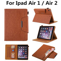 High Quality PU Leather With Soft TPU Back Case For Ipad Air 1 Wallet Stand Protective