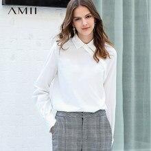 b37eaae53f Amii minimalista mujeres 2019 otoño blusa elegante dama de oficina de alta  calidad