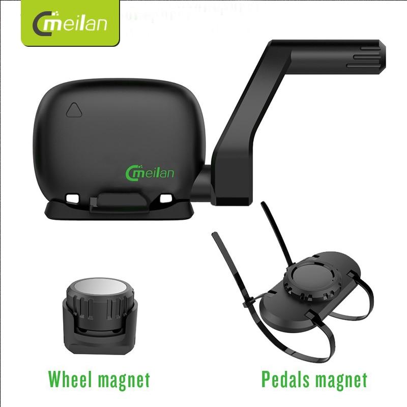 Spor ve Eğlence'ten Bisiklet Bilgisayarı'de MEILAN C3 Kablosuz Hız/Ritim Sensörü Su Geçirmez Bluetooth BT4.0 sensörü title=